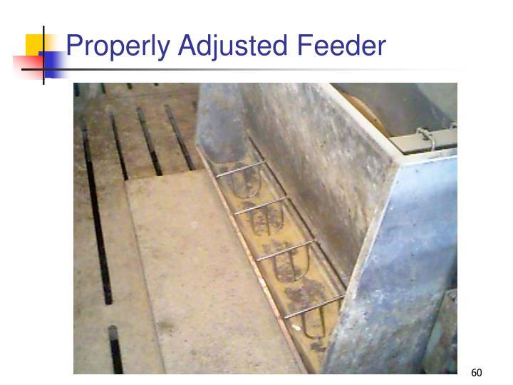 Properly Adjusted Feeder