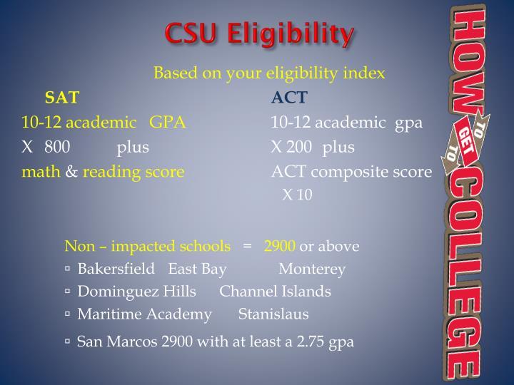 CSU Eligibility