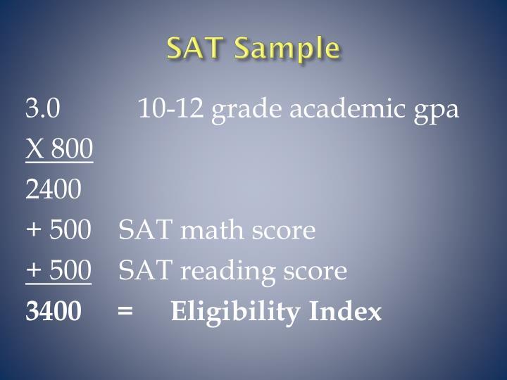 SAT Sample