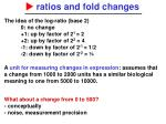 ratios and fold changes1