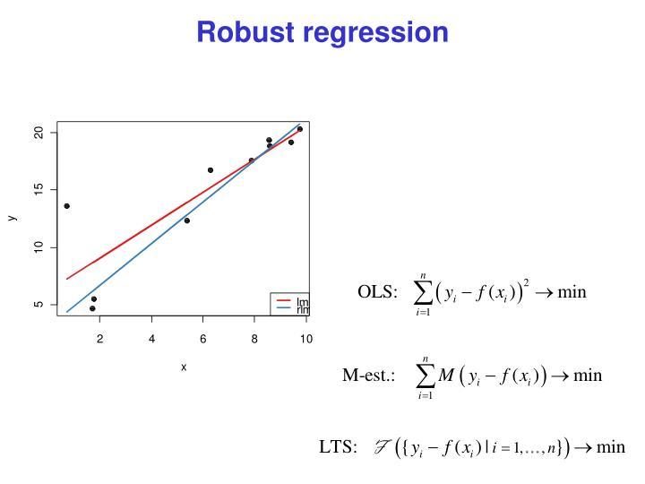 Robust regression