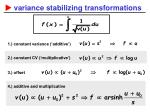 variance stabilizing transformations1