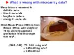 what is wrong with microarray data