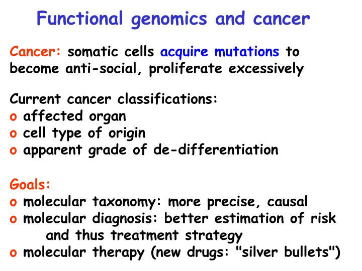Functional genomics and cancer
