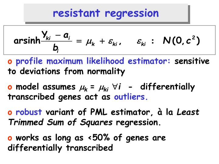 resistant regression