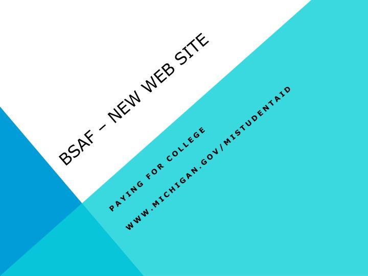 BSAF – New Web site