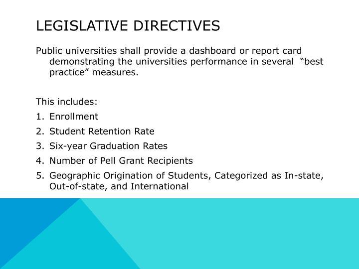 Legislative Directives