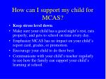how can i support my child for mcas