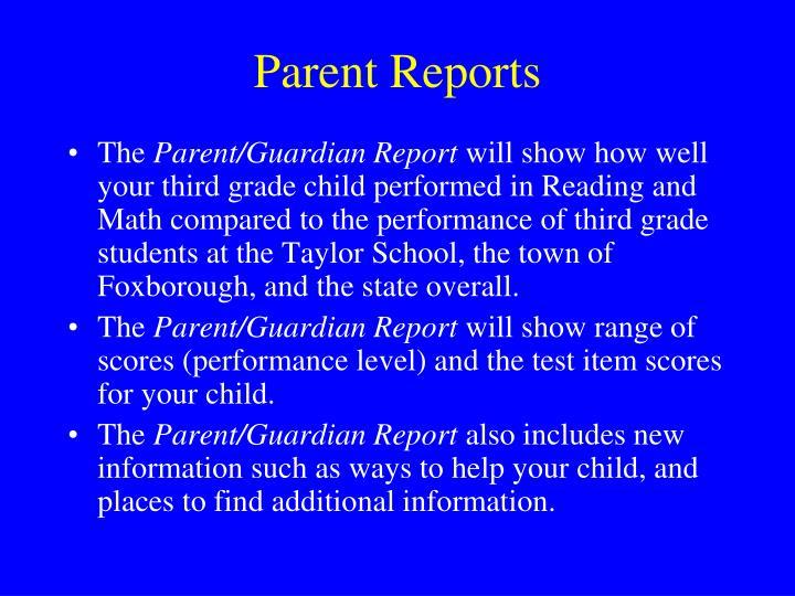 Parent Reports
