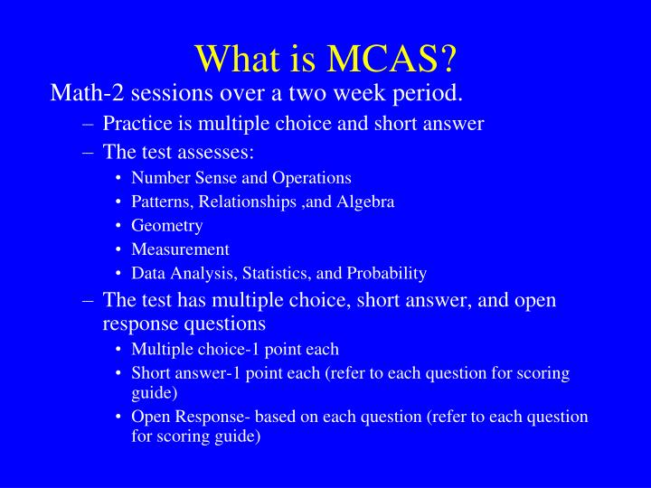 What is MCAS?