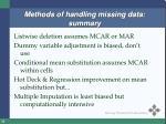 methods of handling missing data summary