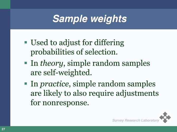 Sample weights