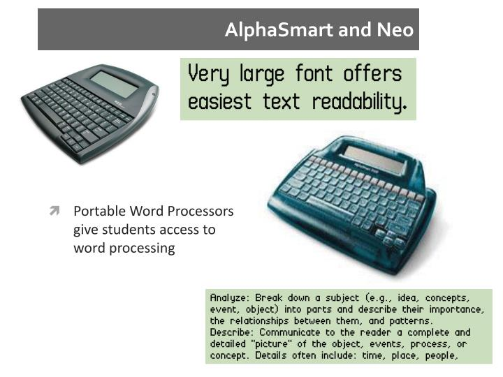 AlphaSmart and Neo