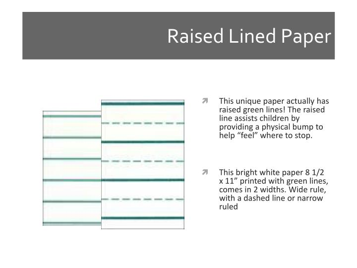 Raised Lined Paper
