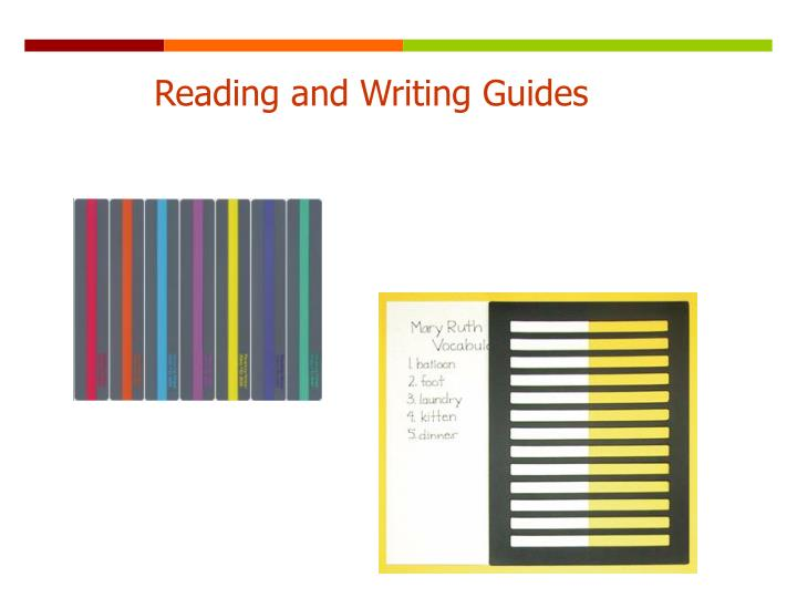 Reading and Writing Guides
