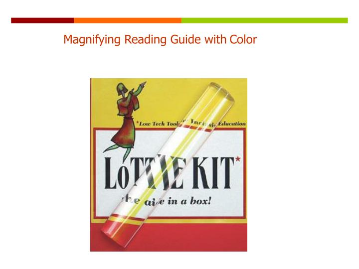 Magnifying Reading Guide with
