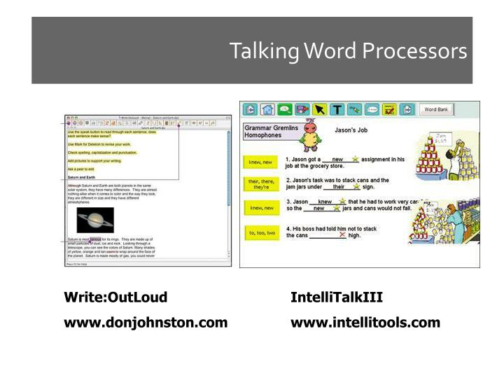 Talking Word Processors