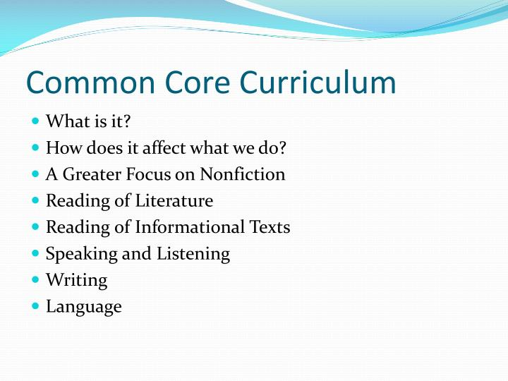 Common Core Curriculum