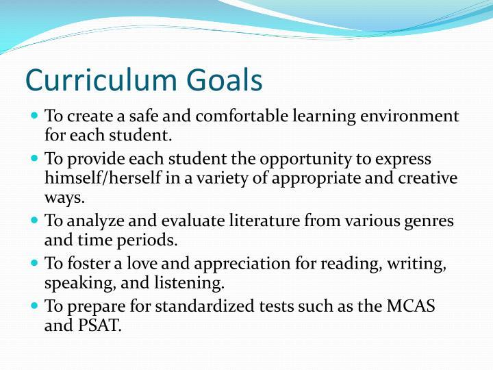 Curriculum Goals