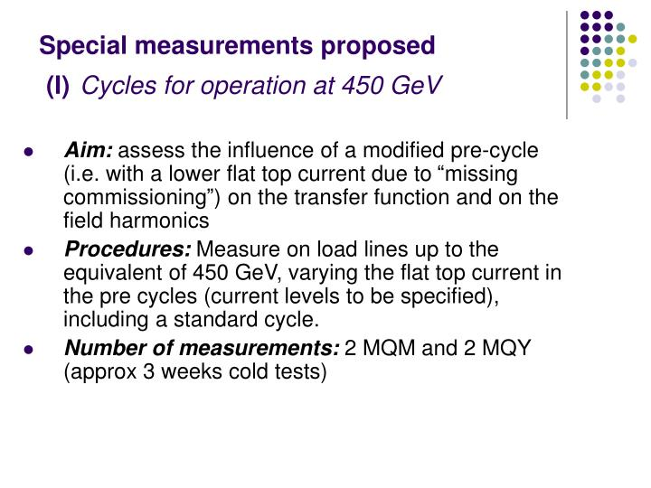 Special measurements proposed