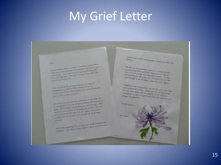 My Grief Letter
