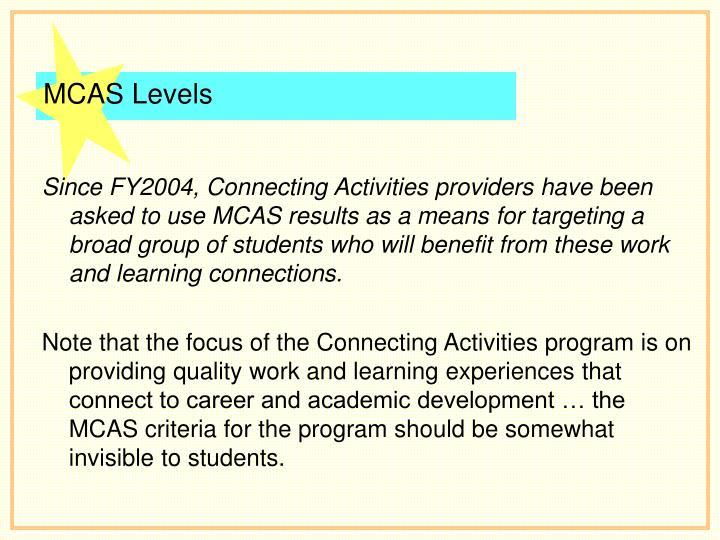 MCAS Levels
