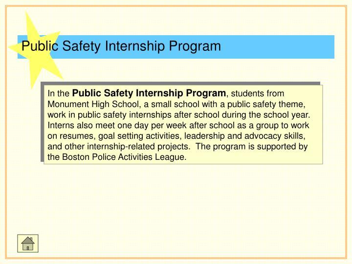 Public Safety Internship Program