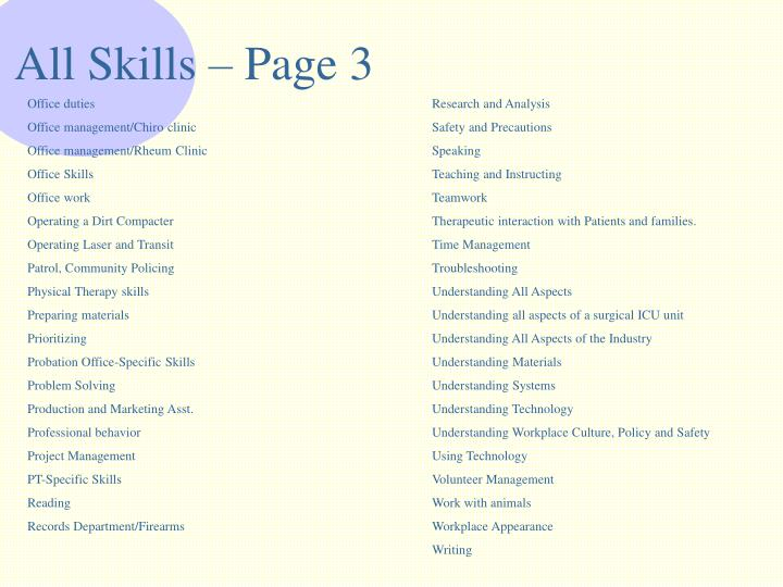 All Skills – Page 3