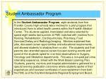 student ambassador program