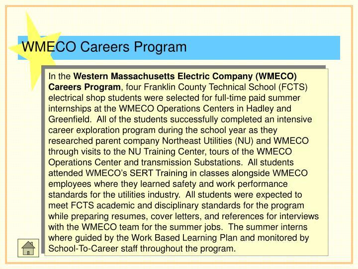 WMECO Careers Program