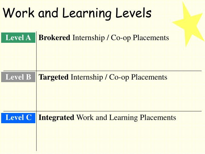 Work and Learning Levels