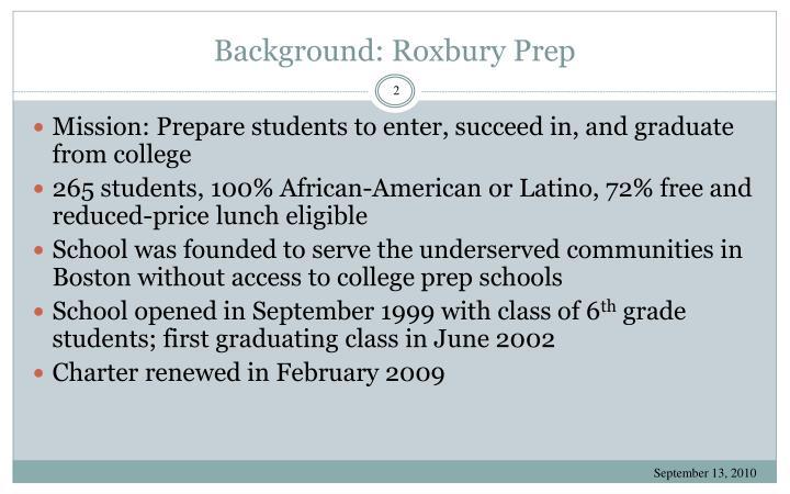 Background: Roxbury Prep