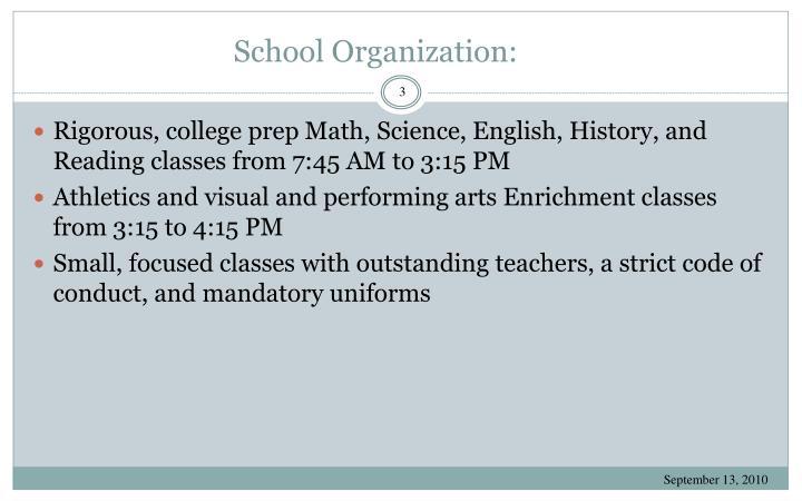 School Organization: