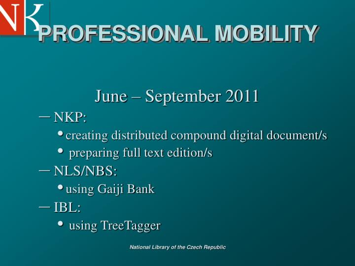 PROFESSIONAL MOBILITY