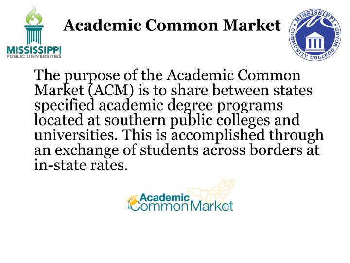 Academic Common Market