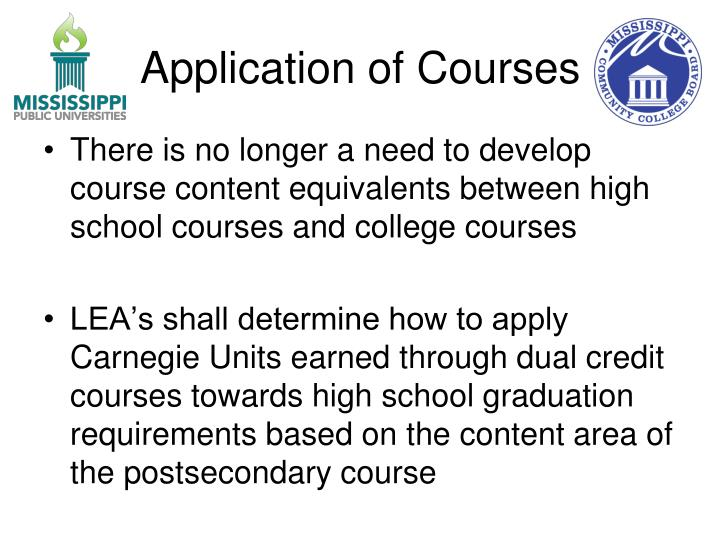 Application of Courses