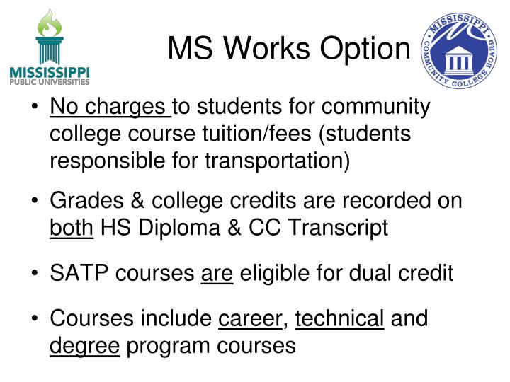 MS Works Option