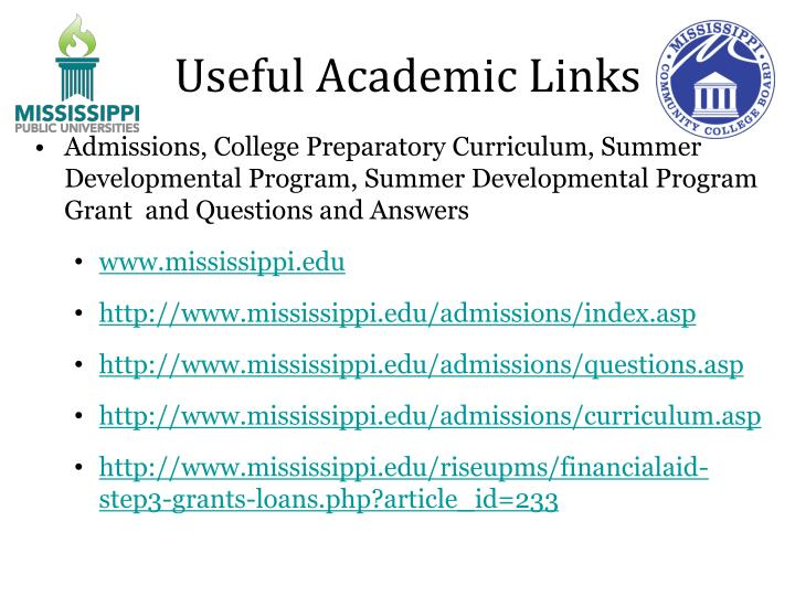 Useful Academic Links