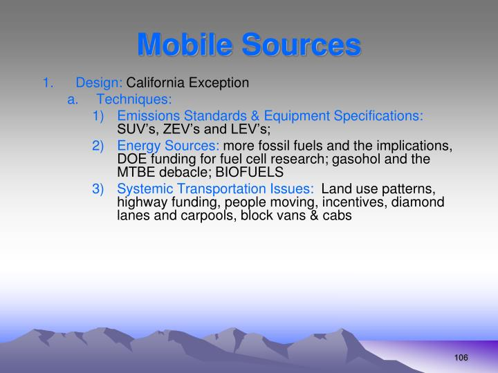 Mobile Sources