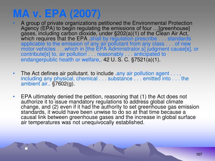 MA v. EPA (2007)