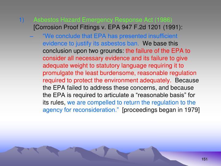 Asbestos Hazard Emergency Response Act (1986)