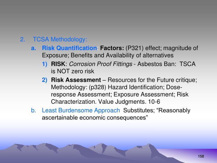 TCSA Methodology: