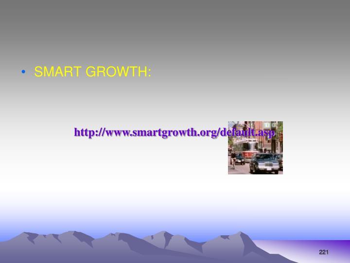 SMART GROWTH: