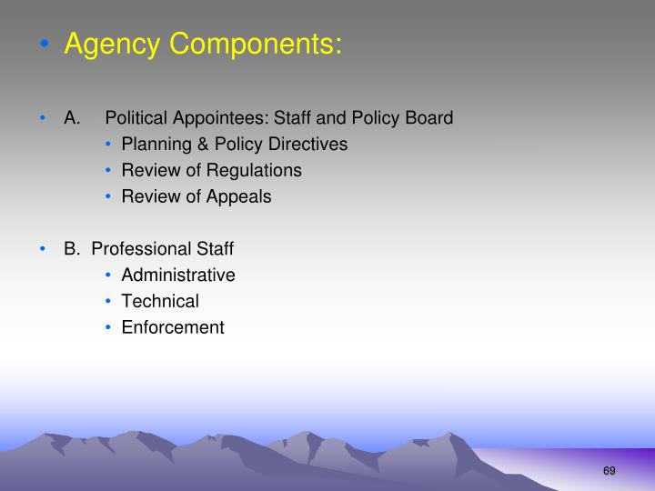 Agency Components: