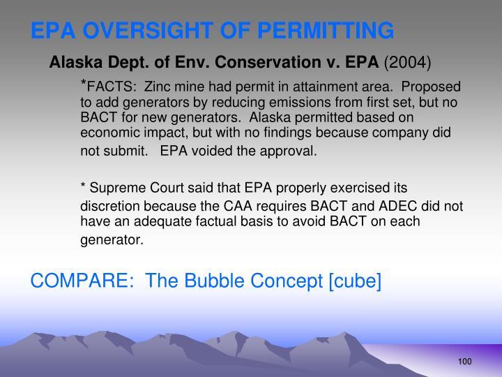 EPA OVERSIGHT OF PERMITTING