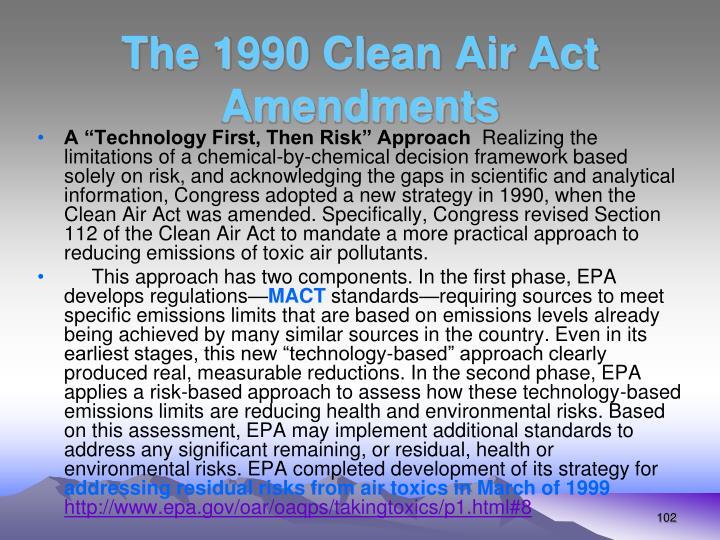 The 1990 Clean Air Act Amendments
