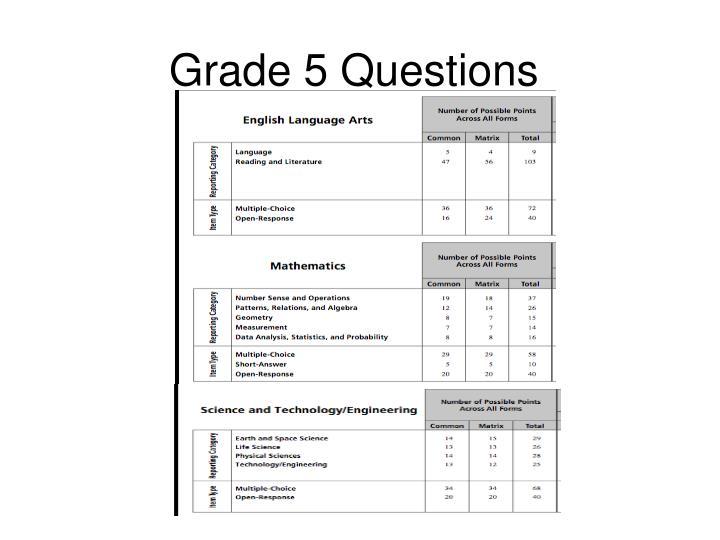 Grade 5 Questions