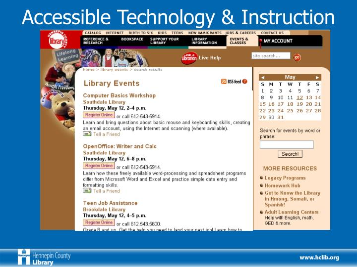 Accessible Technology & Instruction