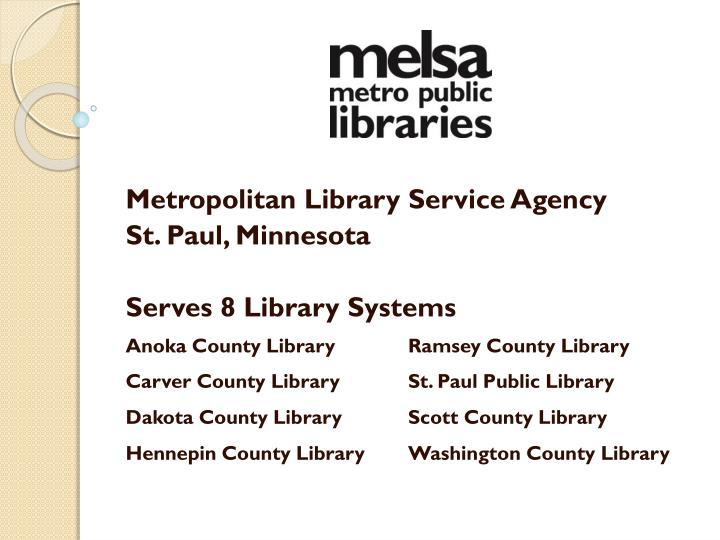 Metropolitan Library Service Agency
