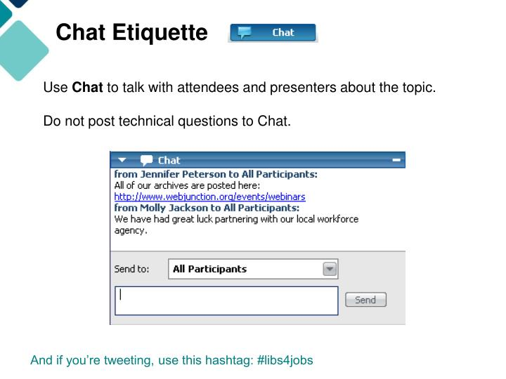 Chat Etiquette